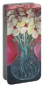 Flowers Inside Glass Pitcher Portable Battery Charger