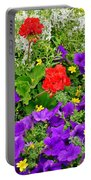 Flowers Of Bethany Beach - Petunias Portable Battery Charger