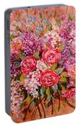 Flowers Of Romance Portable Battery Charger