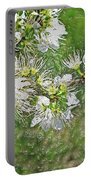 Flowers Of The Blackthorn Shrub Portable Battery Charger