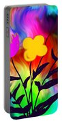 Flowers Of The I-magi-nation Portable Battery Charger