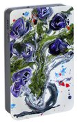 Flowers Of The Mind Portable Battery Charger