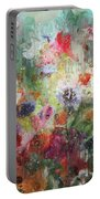 Flowers On Canvas Portable Battery Charger