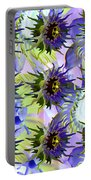 Flowers On The Wall Portable Battery Charger