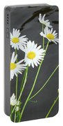 Flowers On The Water Portable Battery Charger