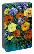Flowers Painting #191 Portable Battery Charger