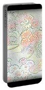 Flowers Painting  Portable Battery Charger
