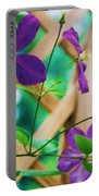 Flowers Purple Portable Battery Charger