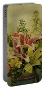Flowers Portable Battery Charger by Sandy Keeton