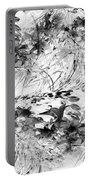 Flowers Study Abstract 1 Portable Battery Charger