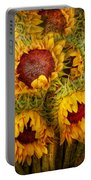 Flowers - Sunflowers - You're My Only Sunshine Portable Battery Charger