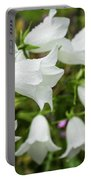 Flowers With Droplets 2 Portable Battery Charger