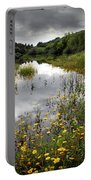 Flowery Lake Portable Battery Charger by Carlos Caetano