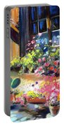 Flowery Window Of France Portable Battery Charger