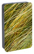 Flowing Green Grass  Abstract Portable Battery Charger