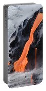 Flowing Pahoehoe Lava Portable Battery Charger