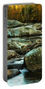 Flowing River On Greenbrier Cove Road Smoky Mountains National P Portable Battery Charger