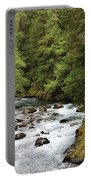 Flowing Through The Trees Portable Battery Charger