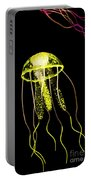 Flows Of Yellow Marine Life Portable Battery Charger