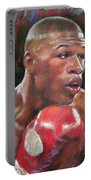 Floyd Mayweather Jr Portable Battery Charger by Ylli Haruni