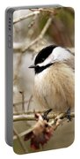 Fluffy Chickadee Portable Battery Charger