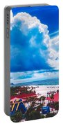Fluffy Clouds Over Clearwater Beach Portable Battery Charger