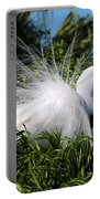Fluffy Great Egret Portable Battery Charger
