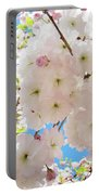 Fluffy White Pink Sunlit Tree Blossom Art Print Canvas Baslee Troutman Portable Battery Charger