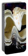 Fluted Giant Clam Shell Portable Battery Charger