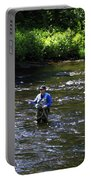 Fly Fishing In New York Portable Battery Charger