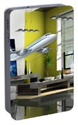 Fly The Friendly Skies Art Portable Battery Charger