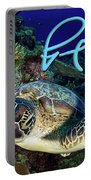 Flying Green Turtle With Logo Portable Battery Charger