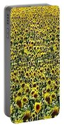 Flying Over Sunflower Fields Portable Battery Charger