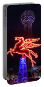 Flying Pegasus And Reunion Tower Night Portable Battery Charger