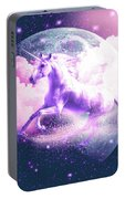 Flying Space Galaxy Unicorn Portable Battery Charger