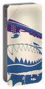 Flying Tiger Blue Purple  Portable Battery Charger