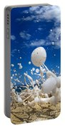 Foam Burst -  Triptych - 2 Of 3 Portable Battery Charger