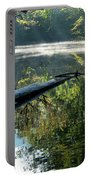 Fog And Reflection Of Stream Portable Battery Charger