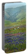 Fog And Wildflowers At Bear Mountain Portable Battery Charger