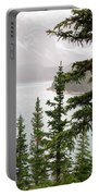 Fog Going Down At Lake Moraine Portable Battery Charger