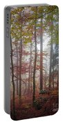 Fog In Autumn Forest Portable Battery Charger