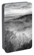 Fog In The Mountains - Pipestem State Park Portable Battery Charger
