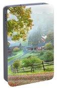 Fog On Sleepy Hollow Farm Portable Battery Charger