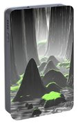 Foggy Canyon Walls Portable Battery Charger