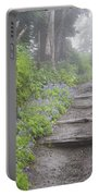 Foggy Forest Path Portable Battery Charger