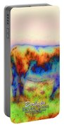 Foggy Mist Cows #0090 Arty Portable Battery Charger