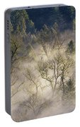 Foggy Morning In Sandy River Valley Portable Battery Charger