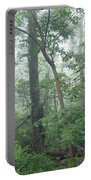 Foggy Morning In The Woods Portable Battery Charger