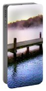 Foggy Pier Portable Battery Charger