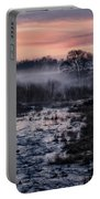 Foggy Sunrise At Chasewater Portable Battery Charger